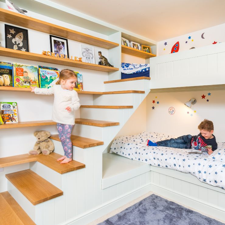 bespoak joinery luxury bunk bed with children